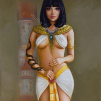 Cleopatra oil painting